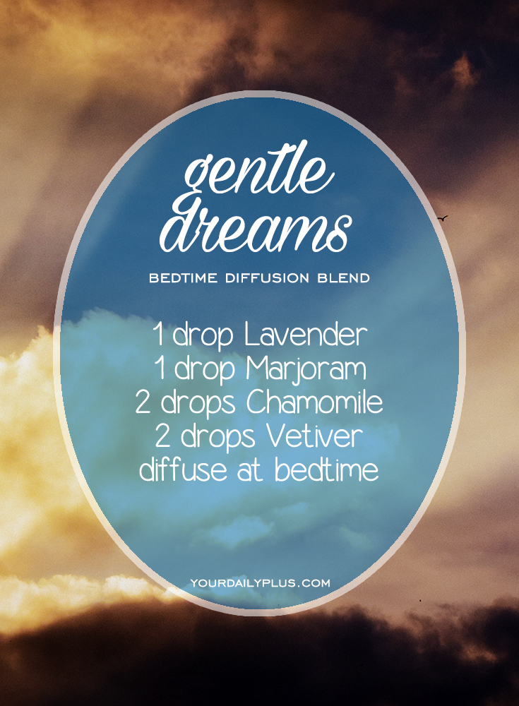 Having trouble sleeping? Try these essential oils for deep sleep that promote relaxation and a restful sleeping environment. Gentle Dreams diffusion blend with Lavender, Marjoram, Chamomile and Vetiver.