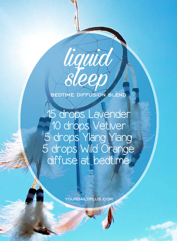 Having trouble sleeping? Try these essential oils for deep sleep that promote relaxation and a restful sleeping environment. Liquid Sleep diffusion blend with Lavender, Vetiver, Ylang Ylang and Wild Orange.