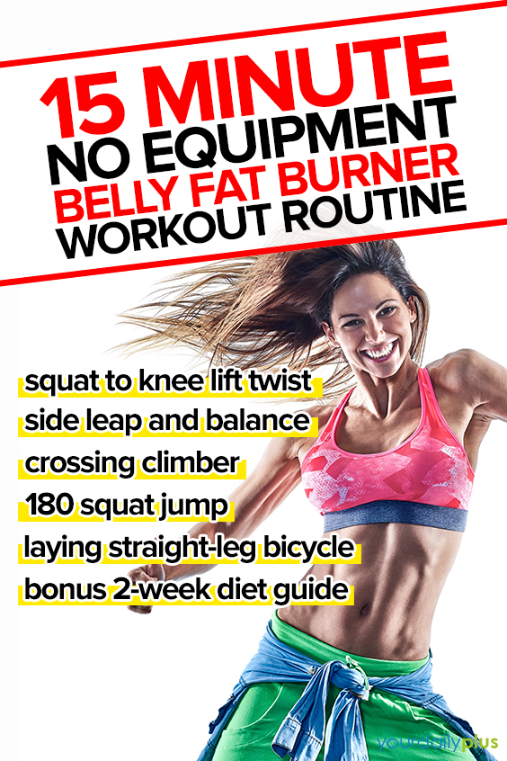 You are about to blast off that belly fat with this 15-minute HIIT circuit that involves fat-scorching cardio intervals and standing core exercises that perform double duty as your belly actively recovers.